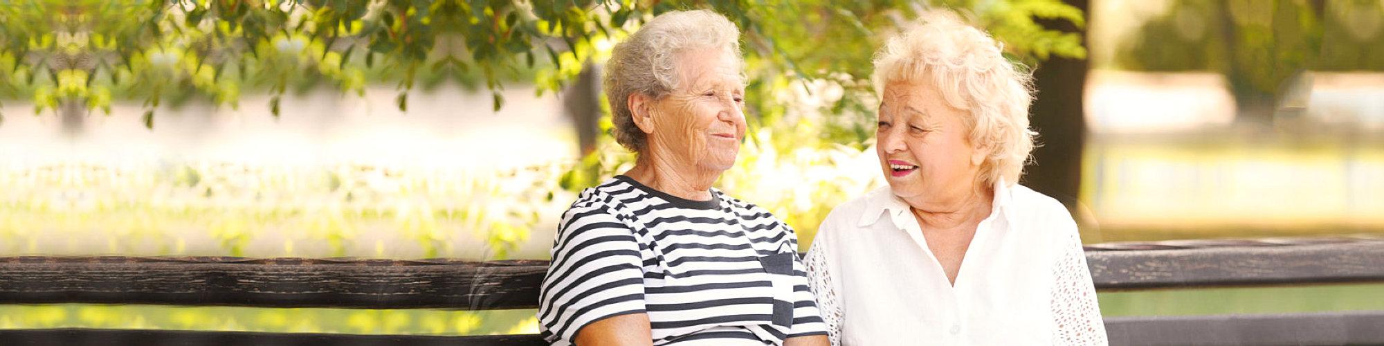 elderly women resting at the park